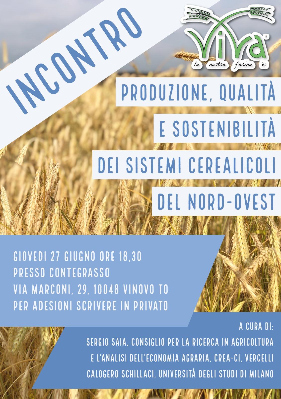 Produzione, Qualità e Sostenibilità dei sistemi cerealicoli del Nord-Ovest