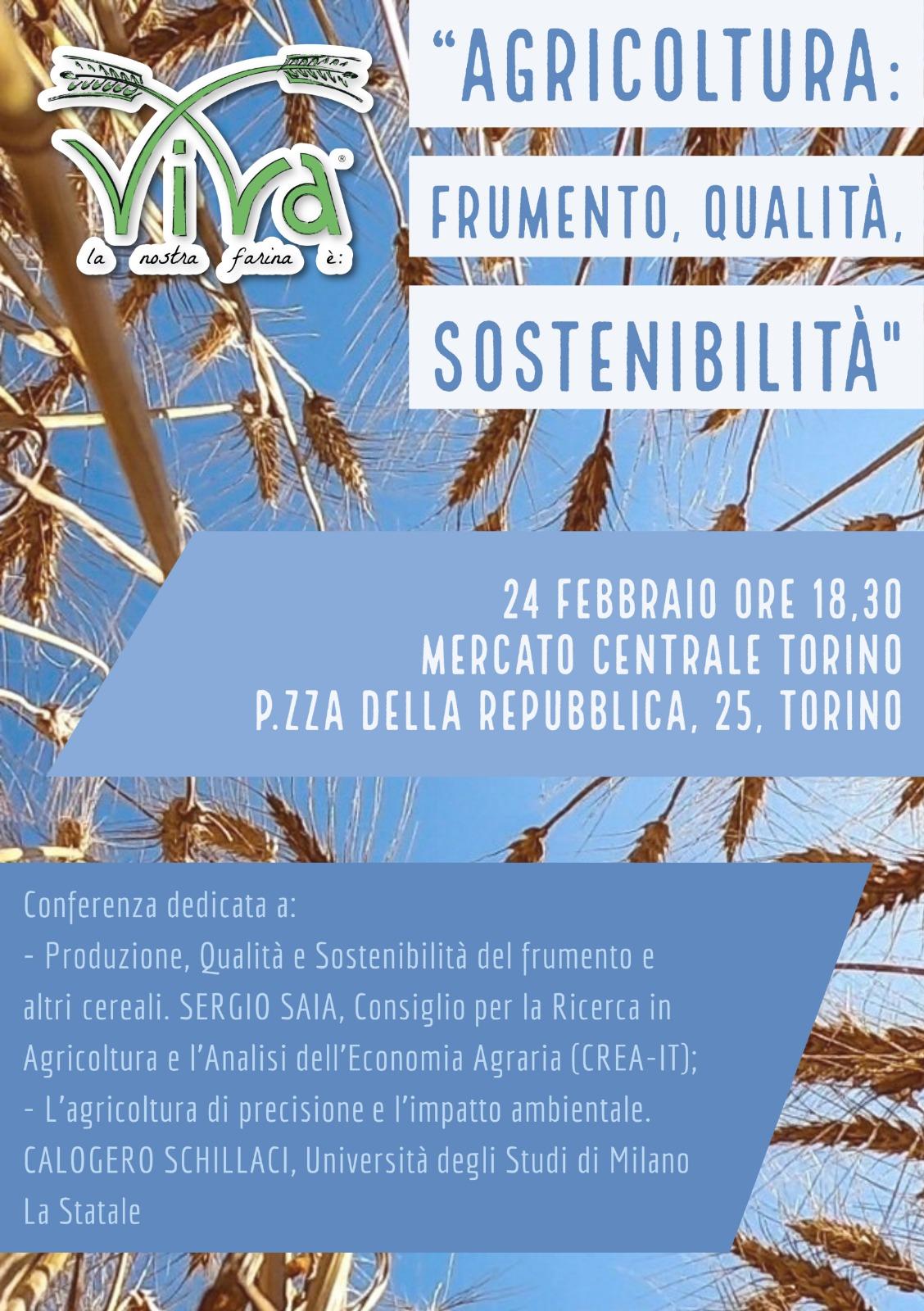 Agricoltura: Frumento, Qualità, Sostenibilità.